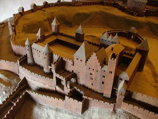 """""""carcassonne le chateau comtal"""" photo libre de droits sur la banque d'images"""